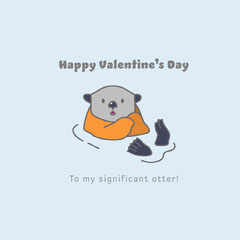 Significant Otter Valentine's Day Instagram Square Valentine's Day