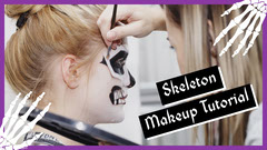 Spooky Skeleton Make-Up Guide Youtube Thumbnail Scary