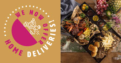 Yellow And Pink Home Deliveries Facebook Post Restaurants