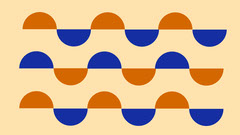 Orange and Blue Geometric Pattern Desktop Wallpaper Pattern Design