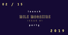 Navy Blue and Yellow Magazine Facebook Page Cover Launch