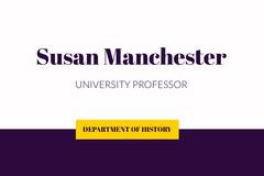 Dark Blue University History Professor ID Card Blue