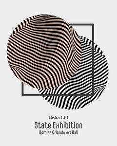 Geometric Pattern Abstract Art Exhibition Instagram Portrait Exhibition
