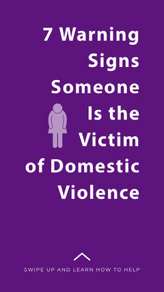Signs of Domestic Violence Instagram Story Sign