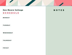 White and Blue Empty Schedule Uni-Stundenplan
