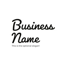 Black and White Business Logo Logo