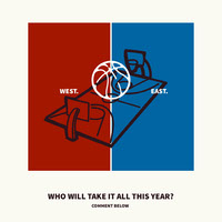 Blue and Red Basketball Game Question Instagram Post Basketball