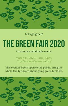green fair flyer Fairs