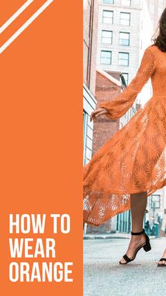 Orange With Photo How To Wear Instagram Story Instagram Story