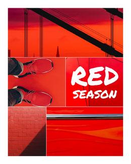 Red Photos Season Collage Photo Collage