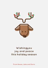 reindeer holiday card Biglietto di Natale