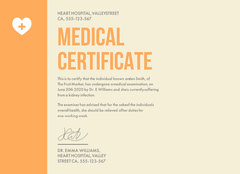 heart hospital medical certificate  Health Posters