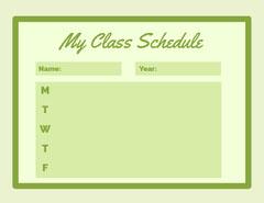 My Class Schedule  Teacher