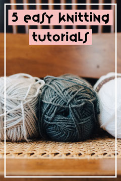 Knitting Tutorials Pinterest Graphic with Yarn Balls Photo Easter