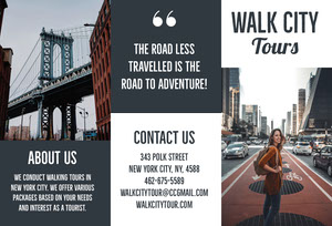 New York City Walking Tour Travel Brochure Brochure