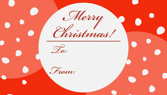 Red Calligraphy Merry Christmas Gift Tag Christmas
