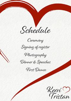 Heart Kerri Wedding Program Photography