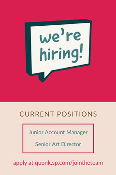 Pink and White We're Hiring Announcement Pinterest Now Hiring Flyer
