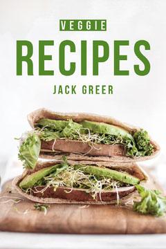 Green and White Vegetarian Recipes Book Cover Vegan