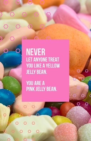 Pink, White, Light Toned Funny Quote Poster Creatore di biglietit pasquali