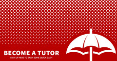 BECOME A TUTOR Tutor Flyer