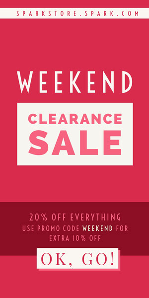 Red and White Weekend Sale Advertisement Advertisement Flyer