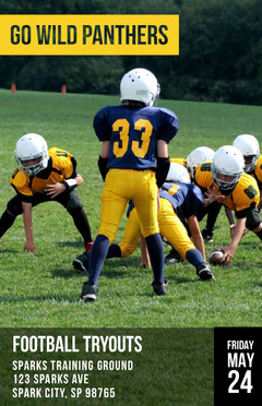 ellow With Players Go Wild Panthers Poster Football