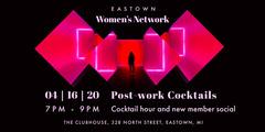 Pink Neon Women's Network Eventbrite Banner  Seminar Flyer