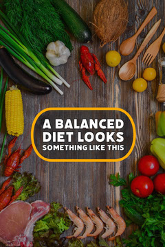 Colorful Balanced Diet Pinterest Food