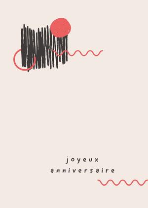 minimalistic design birthday cards Invitation d'anniversaire