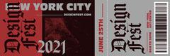 Black and Red, Design Festival Ticket Festival