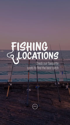 Fishing rods Fishing Locations Instagram Story Welcome Poster