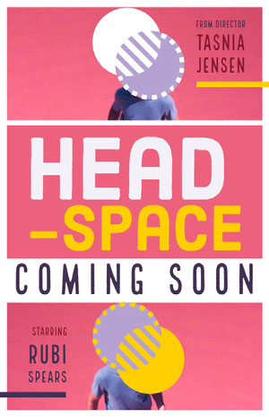 Pink and White Head Space Promo Movie Poster