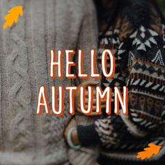 Orange Hello Autumn Instagram Square  Autumn
