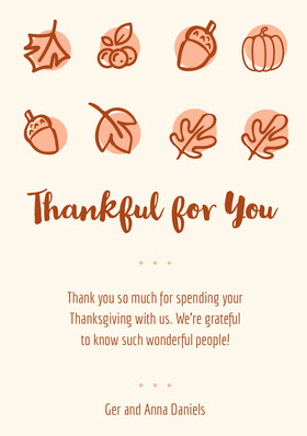 leaves thanksgiving thank you Thank You Card