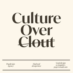 Culture <BR>Over<BR>Clout Agency