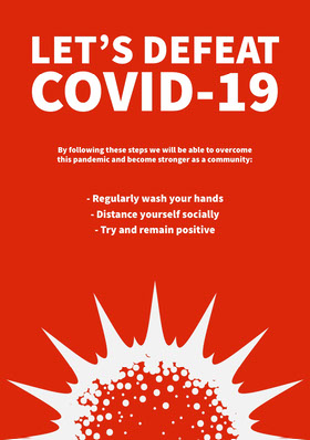 Defeat COVID-19 Flyer Flyer