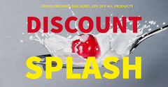 Grey Red and Yellow Splash Social Post Grand Opening Flyer