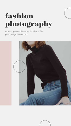 Fashion Photography Instagram Story Workshop