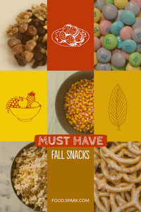 Warm Earthy Tones Autumn Snack Pinterest Graphic with Collage 연하장