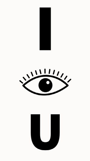 I See You Mobile Phone Wallpaper with Eye iPhone-Hintergrundbild