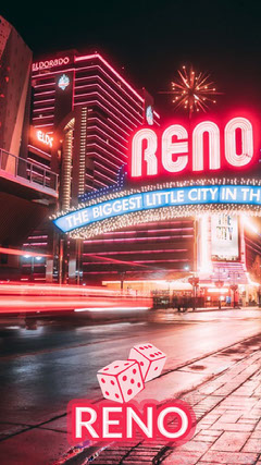 Reno Nevada Snapchat filter Welcome Poster