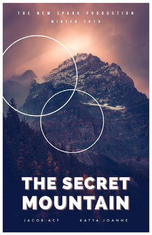 THE SECRET MOUNTAIN Cartel de película