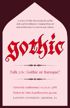 gothic talk series poster Seminar Flyer