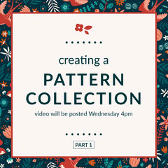 pattern collection Instagram post  New Collection