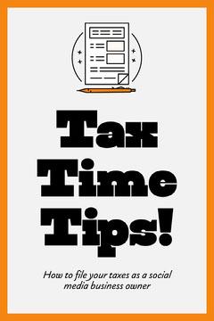 Orange & White Tax Tips Pinterest  Social Media Flyer