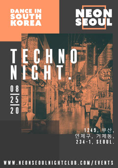 Neon Seoul Night Club Flyer