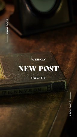 Brown and White, Weekly Poetry Event Ad, Instagram Story