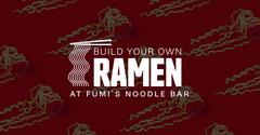 Red and White Ramen Noodle Bar Ad Facebook Banner Ramen
