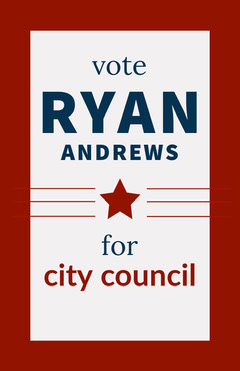 Red and Blue American Political Candidate Campaign Poster Student Council Poster
